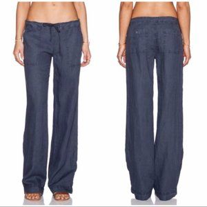 NEW Michael Stars 100% Linen Drawstring Pants L